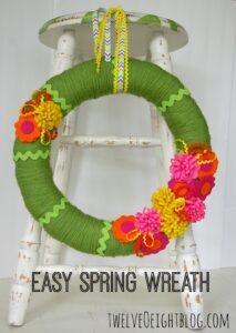 easy spring wreath 1