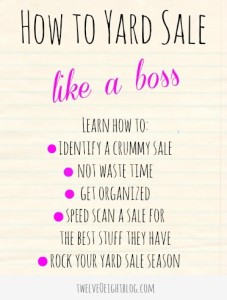 how to yard sale yard sale tips main