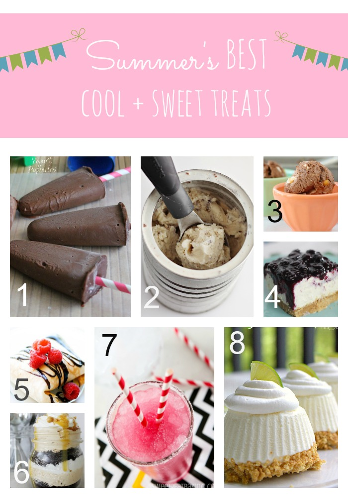 july feature collage - Cool & Sweet Treats and Inspiration Monday