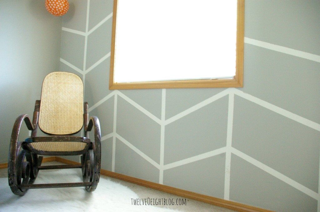 diy herringbone wall 3