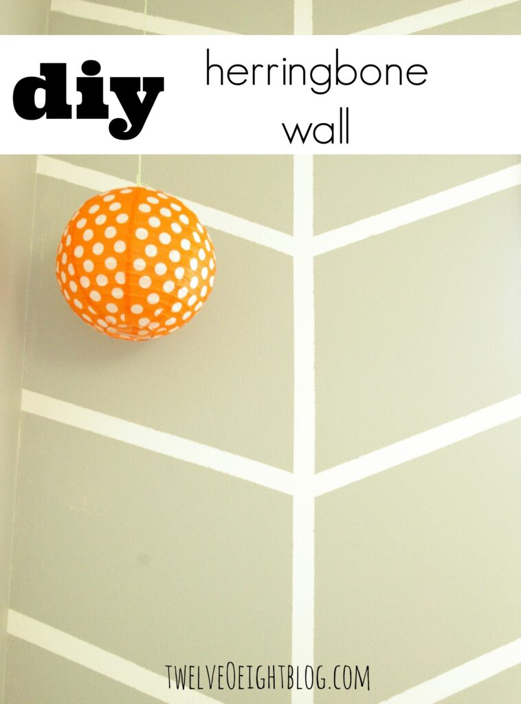 diy herringbone wall