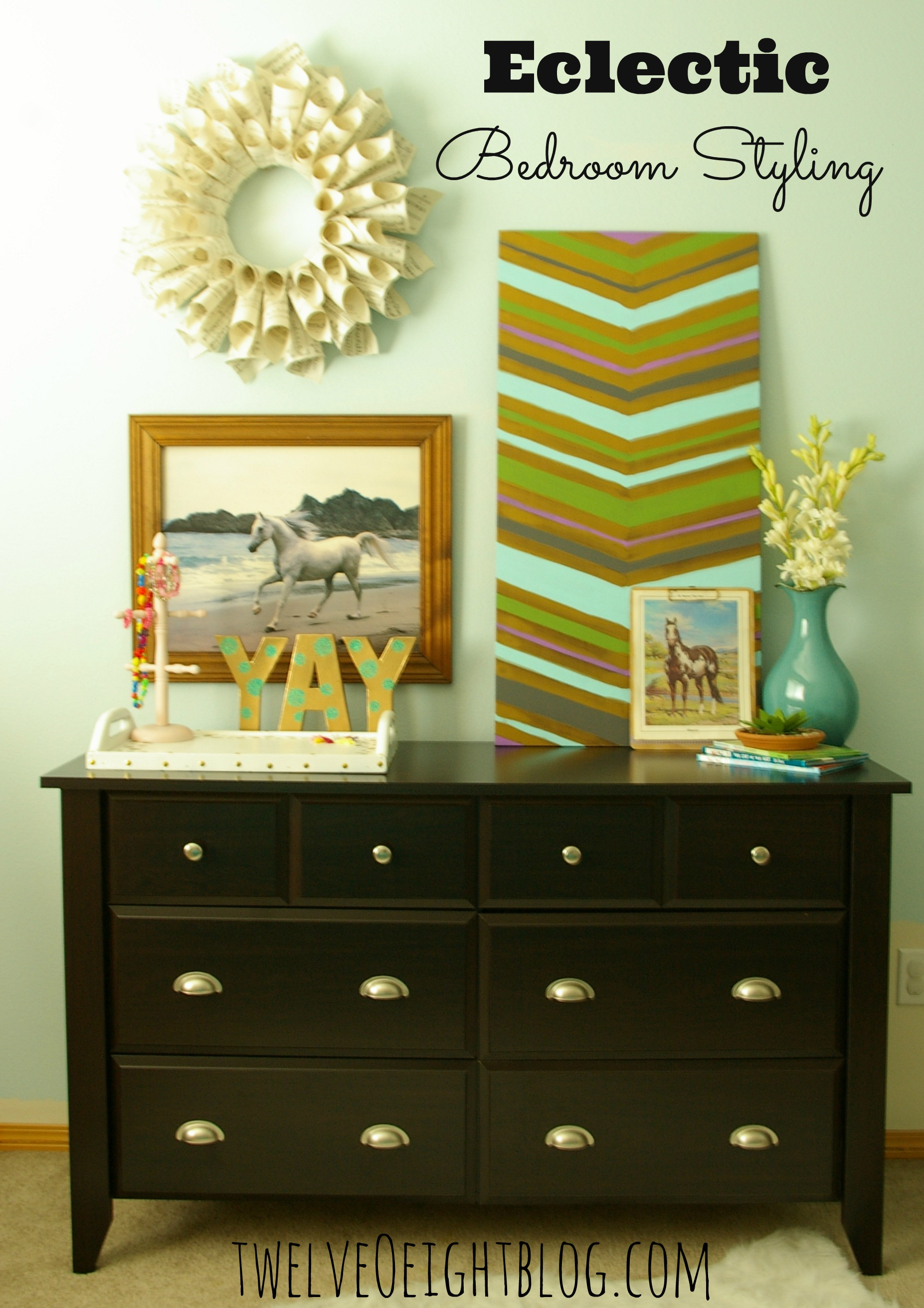 Eclectic bedroom styling a new dresser for Eclectic style furniture