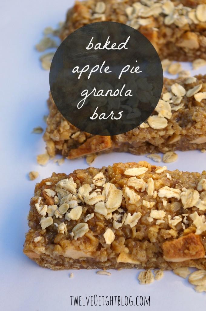 baked apple pie granola bars