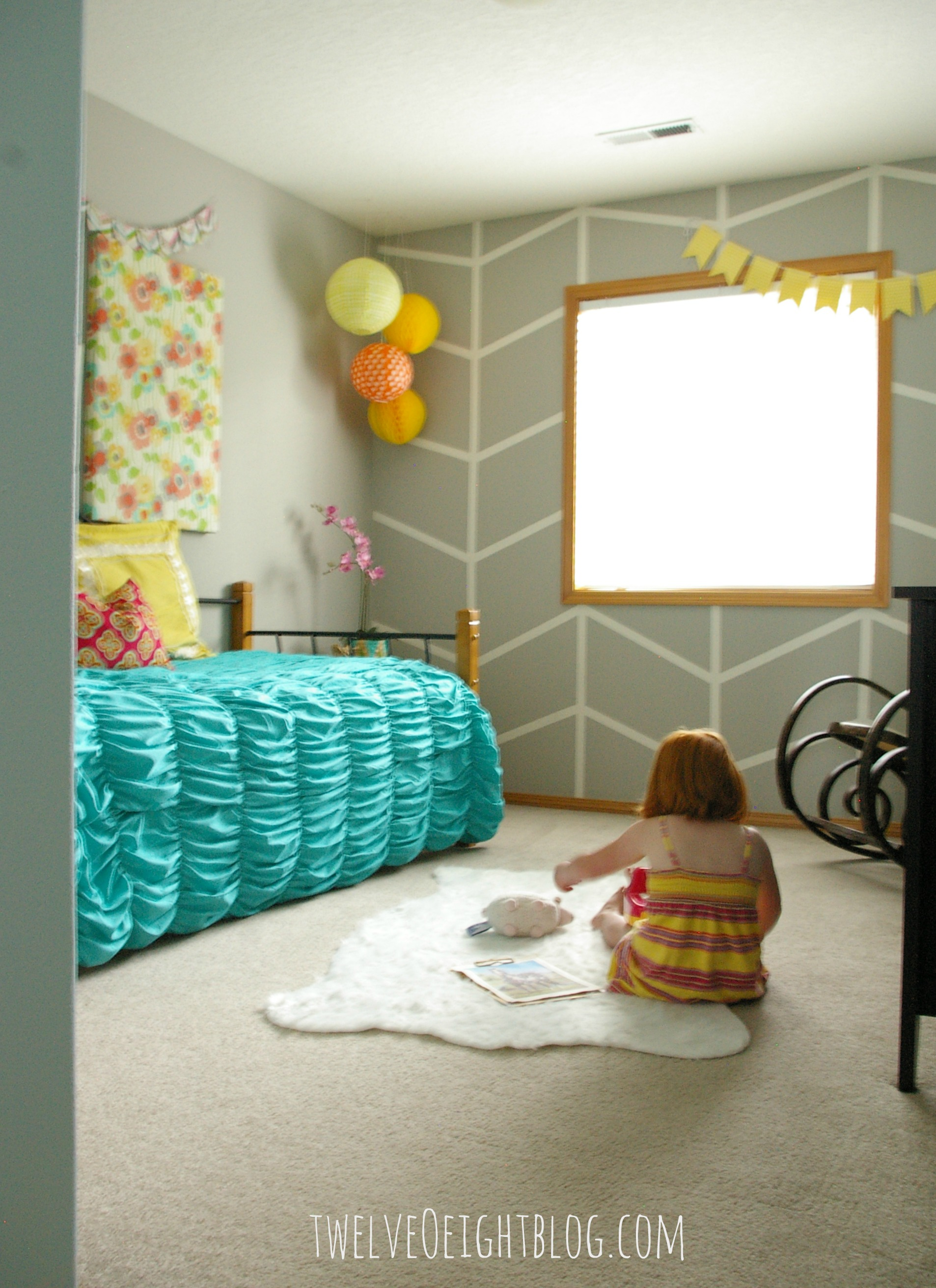 big girl bedroom makeover reveal. Black Bedroom Furniture Sets. Home Design Ideas