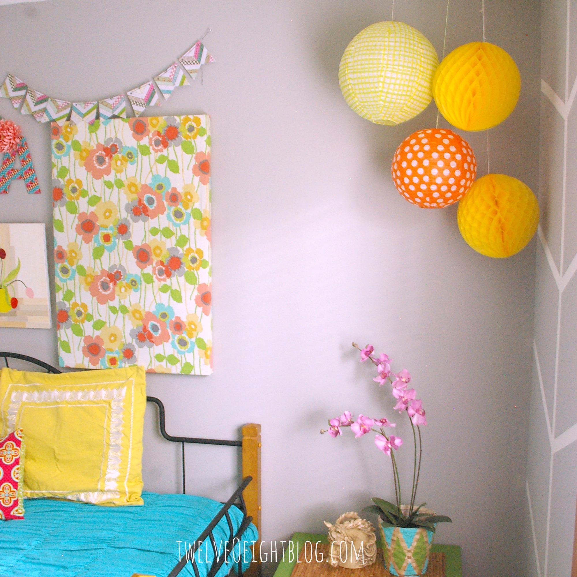 Hanging Paper Lanterns In Bedroom