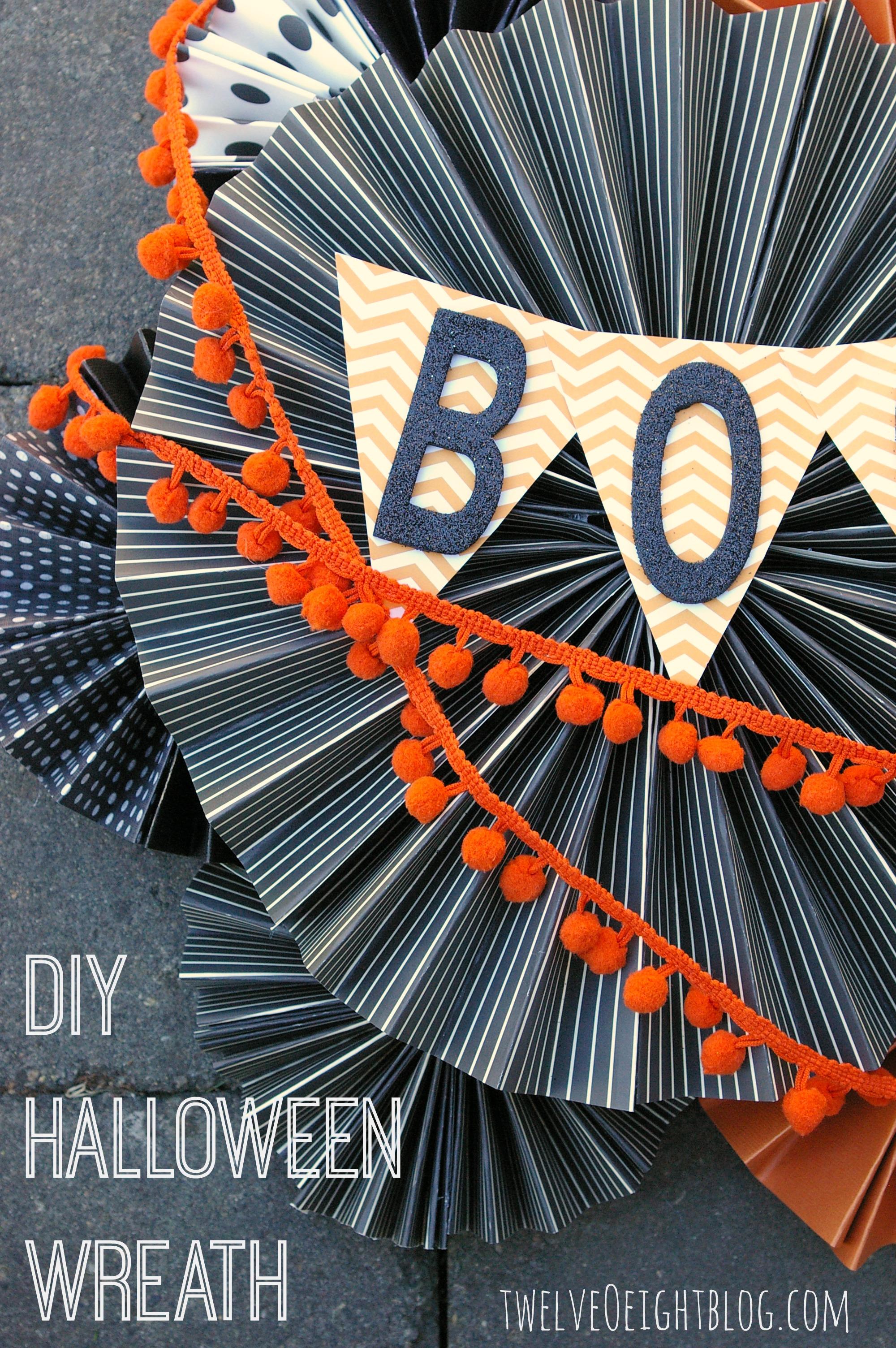 Diy halloween wreath - Easy Diy Halloween Wreath 1