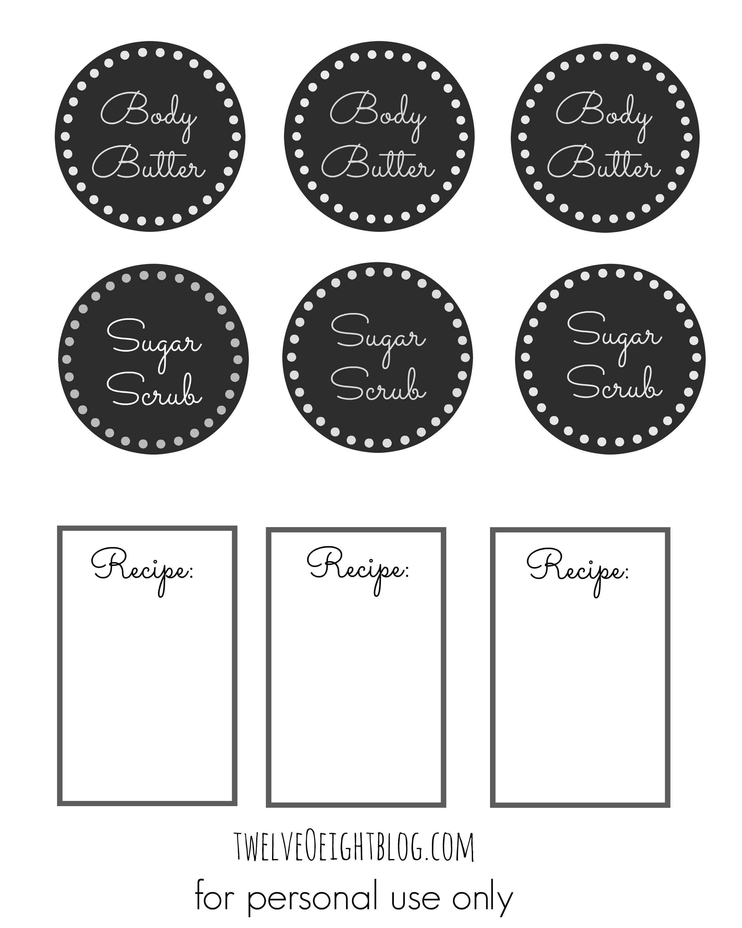 picture about Printable Sugar Scrub Labels titled Gingerbread Cookie System Scrub Recipe + Printable Labels