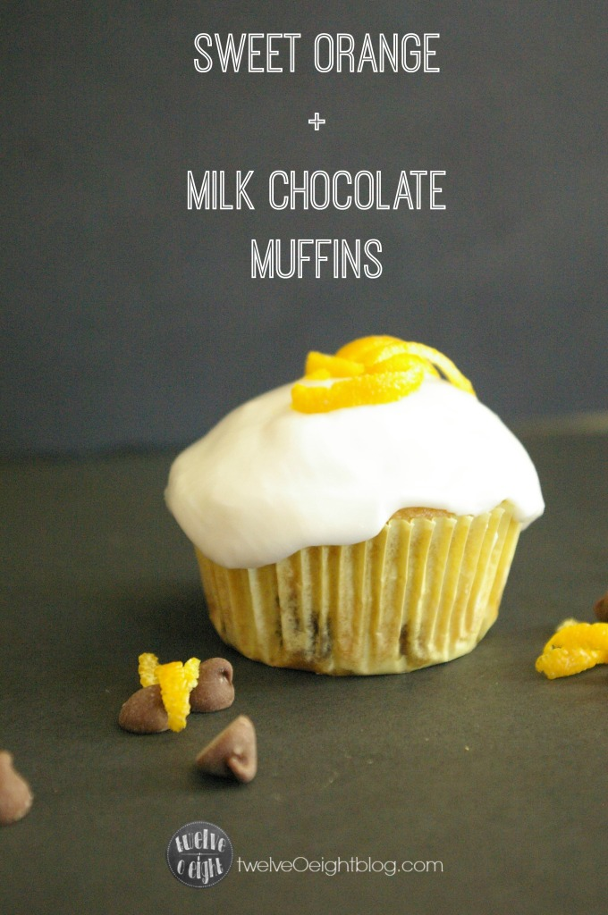 Chocolate Orange Muffin Recipe twelveOeightblog.com #muffin #orangemuffin #chocolateorange #Christmasbreads #Breakfastmuffin