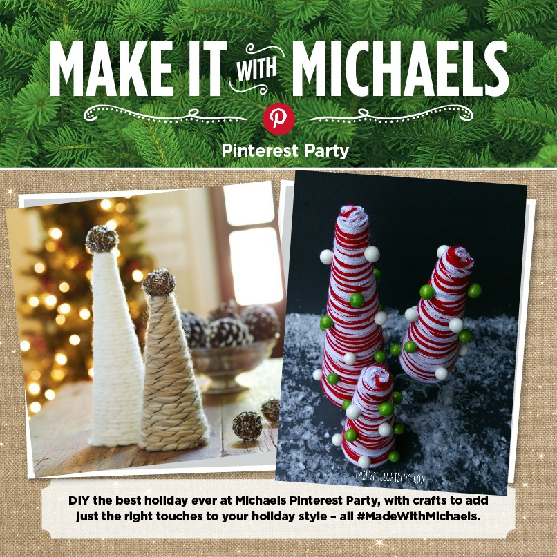 Michaels Pinterest Party DIY Yarn Tree