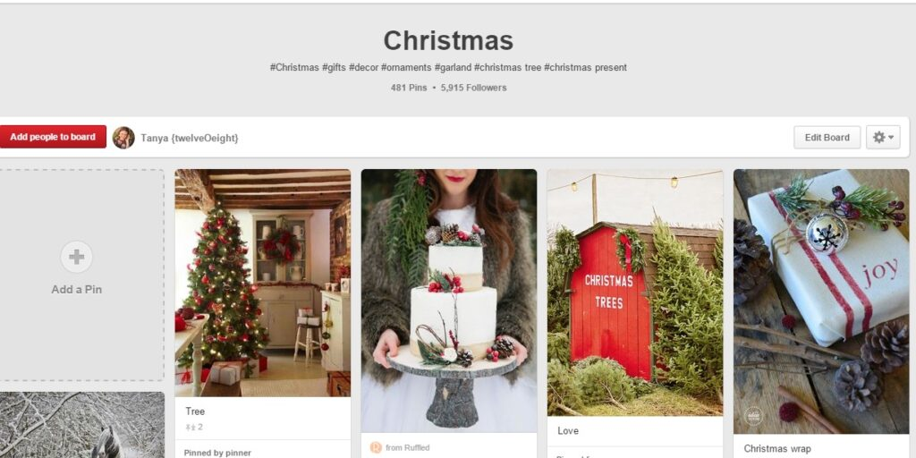 Tanya Christmas board