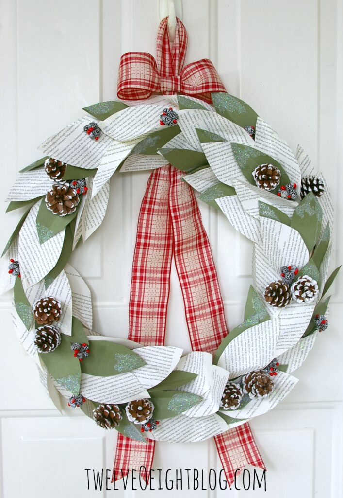 diy winter wreath 1