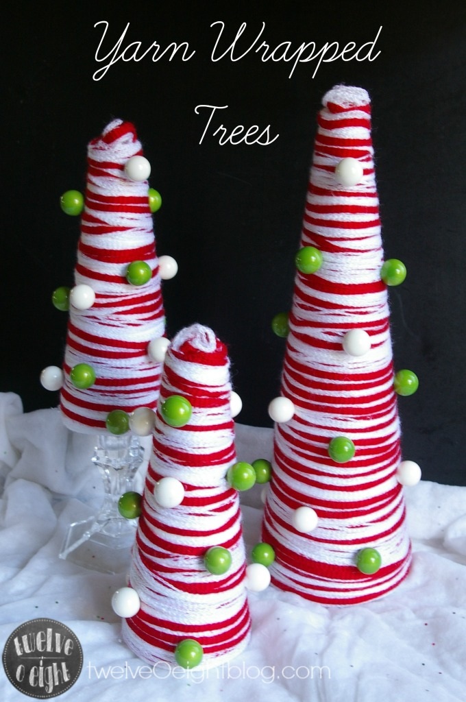 how to make yarn wrapped trees