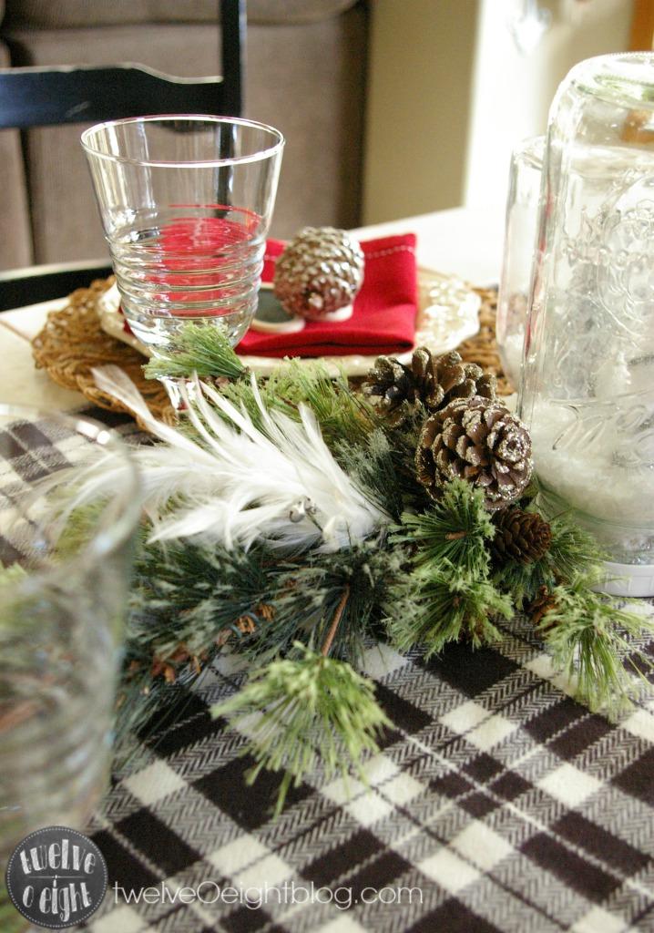 Christmas Home Tour twelveOeightblog.com #diy #Christmas #Decor #DiningRoom #Rustic #twelveOeightblog