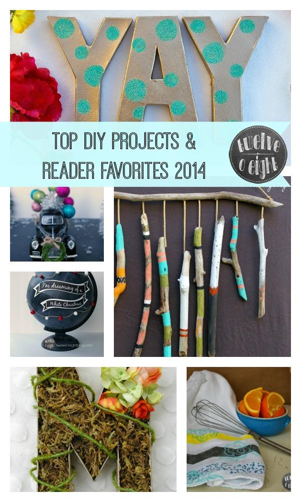 Top DIY Projects 2014 twelveOeightblog.com #DIY #TopDIYIdeas #CraftTrend #DecorTrend #DIYBloggers #twelveOeightblog