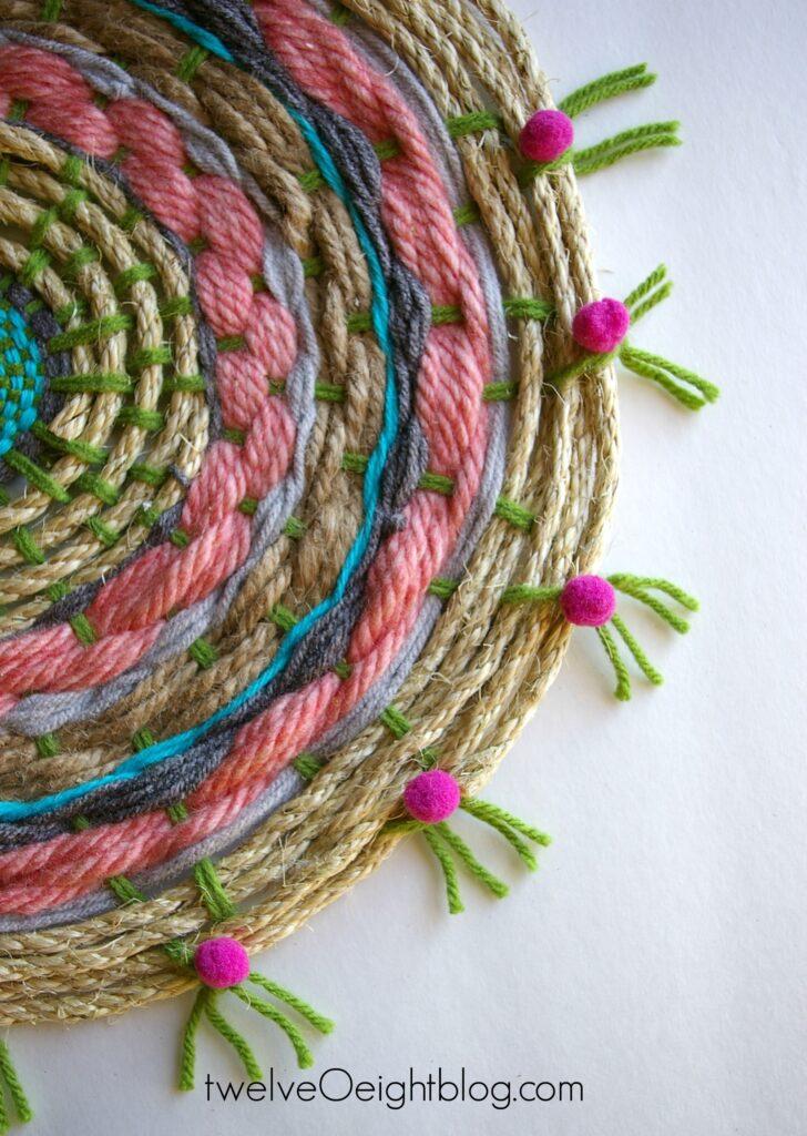 Boho Swirl Tapestry twelveOeightblog.com #boho #diy #woven #wallart #tapestry #twelveOeightblog