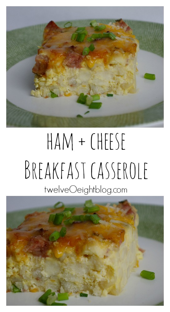 Ham and Cheese Breakfast Casserole twelveOeightblog.com #breakfast #casserole #eggdish #thriftymeals #budgetrecipe #mealplan #twelveOeightblog