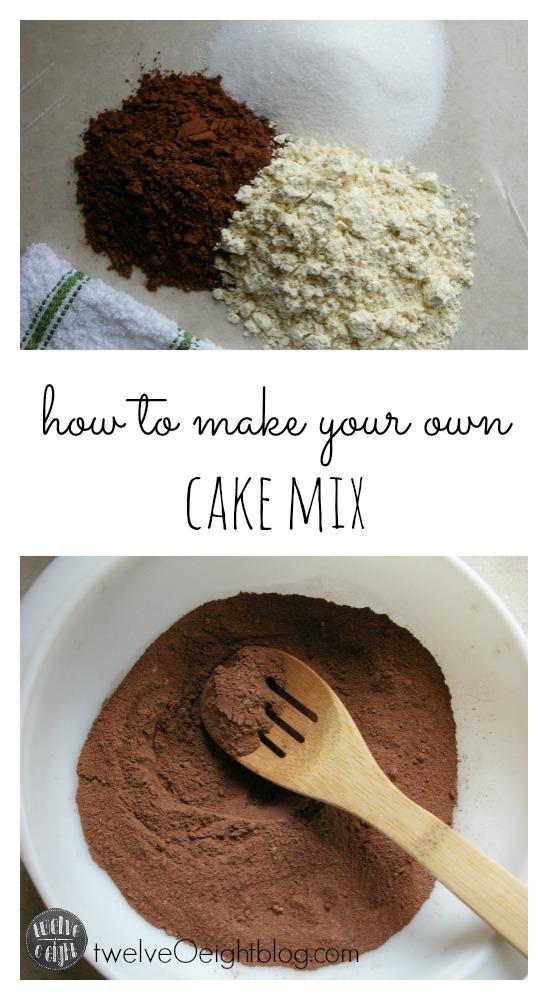 How to Make Your Own Cake Mix twelveOeightblog.com #cakemix #howtomakecakemix #makeyourownmixes #cakemixrecipe #chocolatecakemix #twelveOeightblog