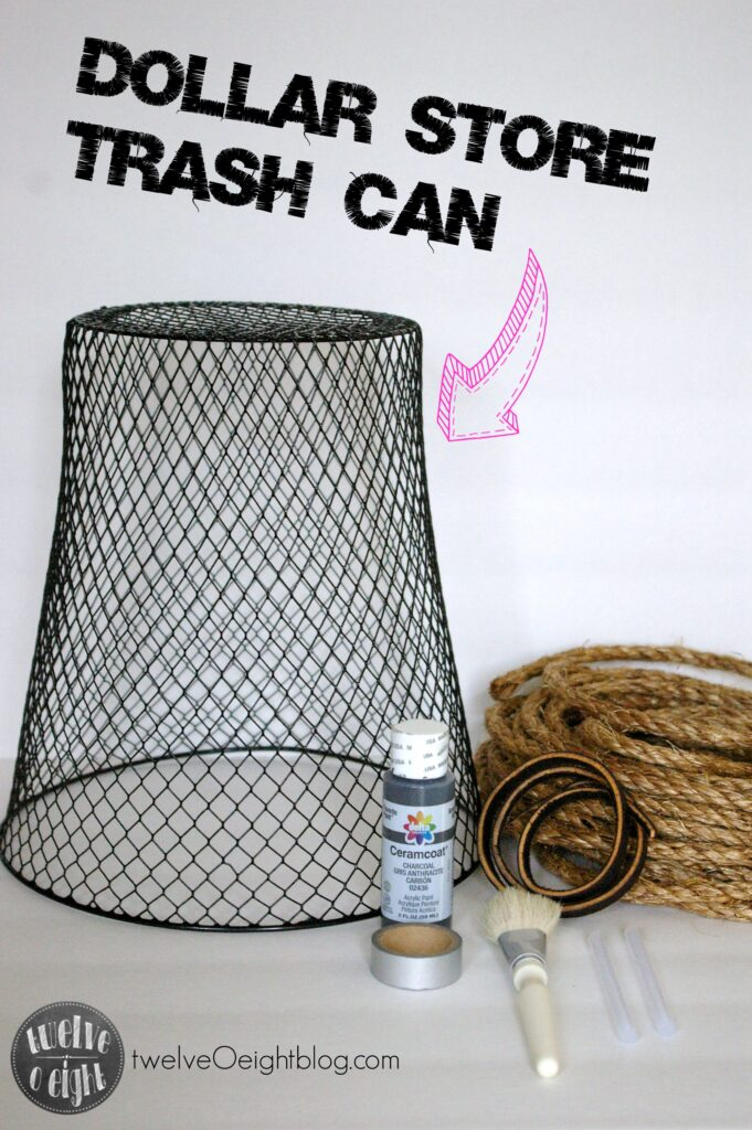 How to make a basket out of rope twelveOeightblog.com #ropebasket #dollarstore #diy #upcycle #howtomakearopebasket #twelveOeightblog