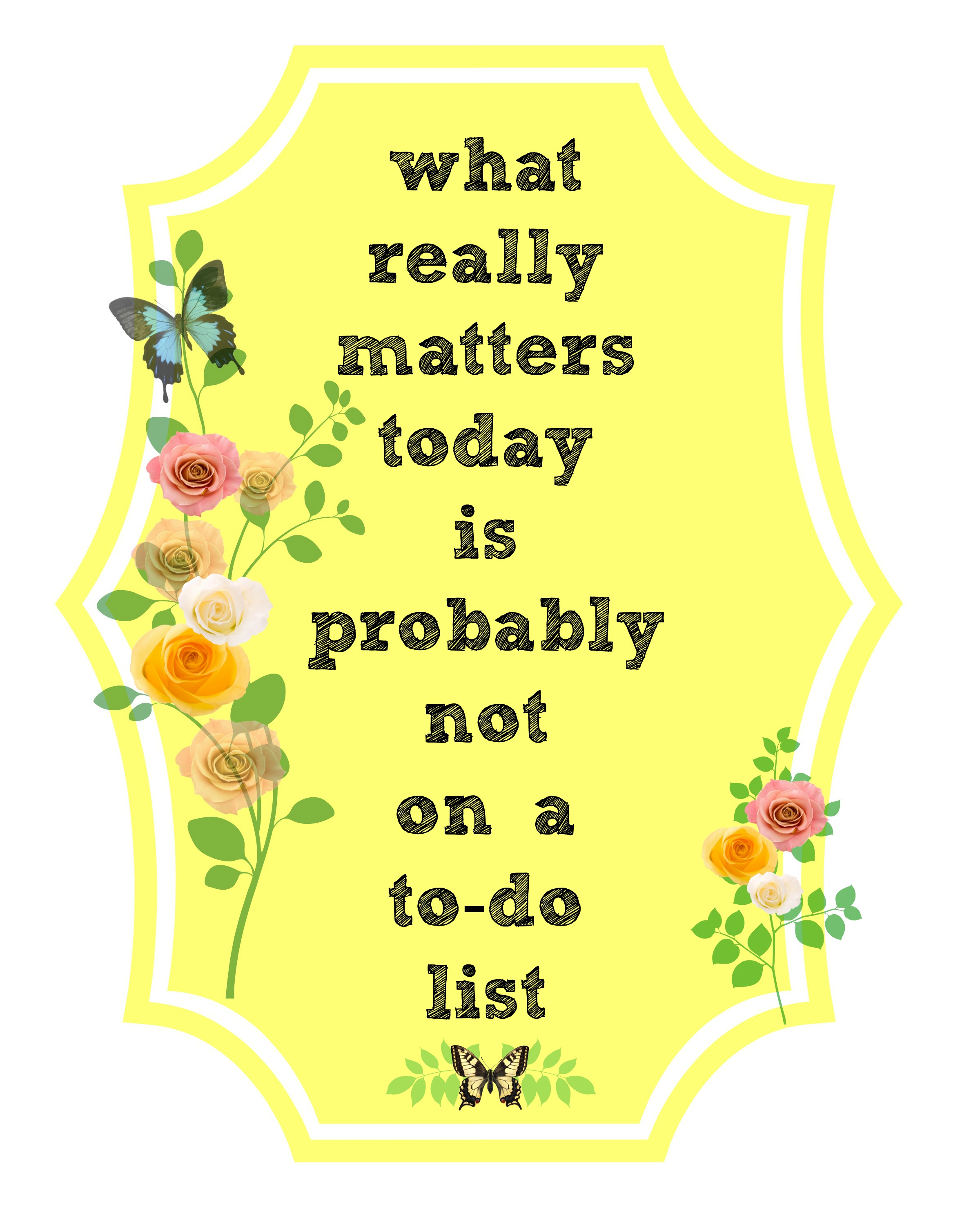 What Really Matters In Life Quotes: Hand Stamped Cloth Napkins