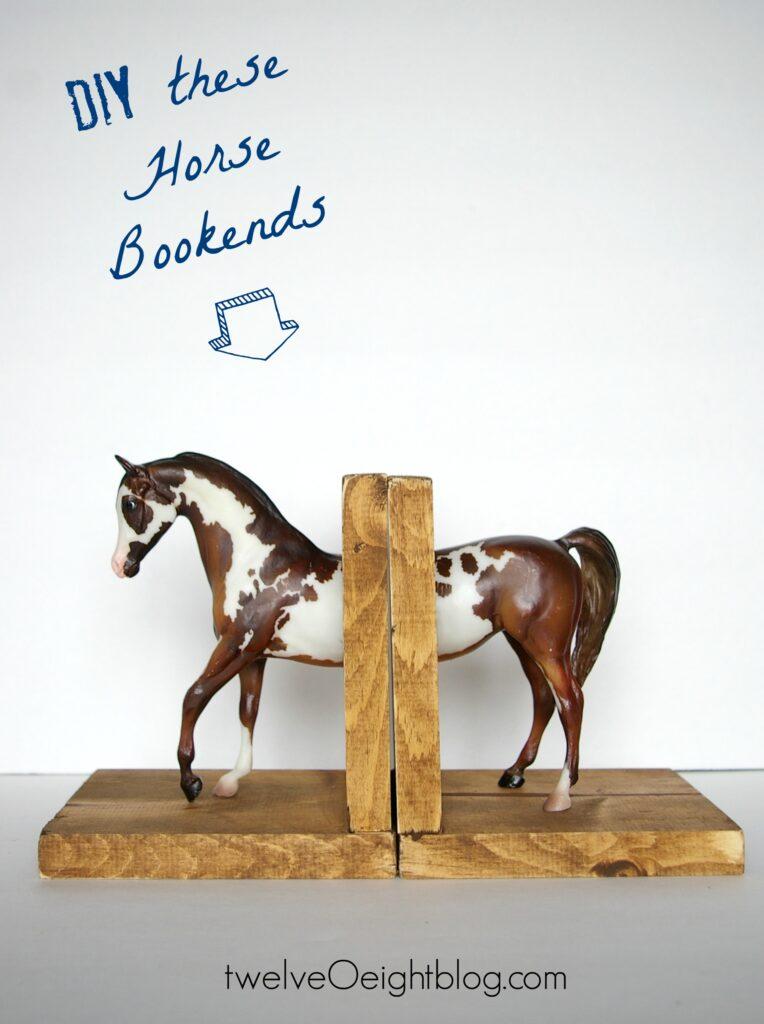 DIY Horse Bookends twelveOeightblog.com #bloggers #bloggerhomes #DIY #horsedecor #twelveOeightblog