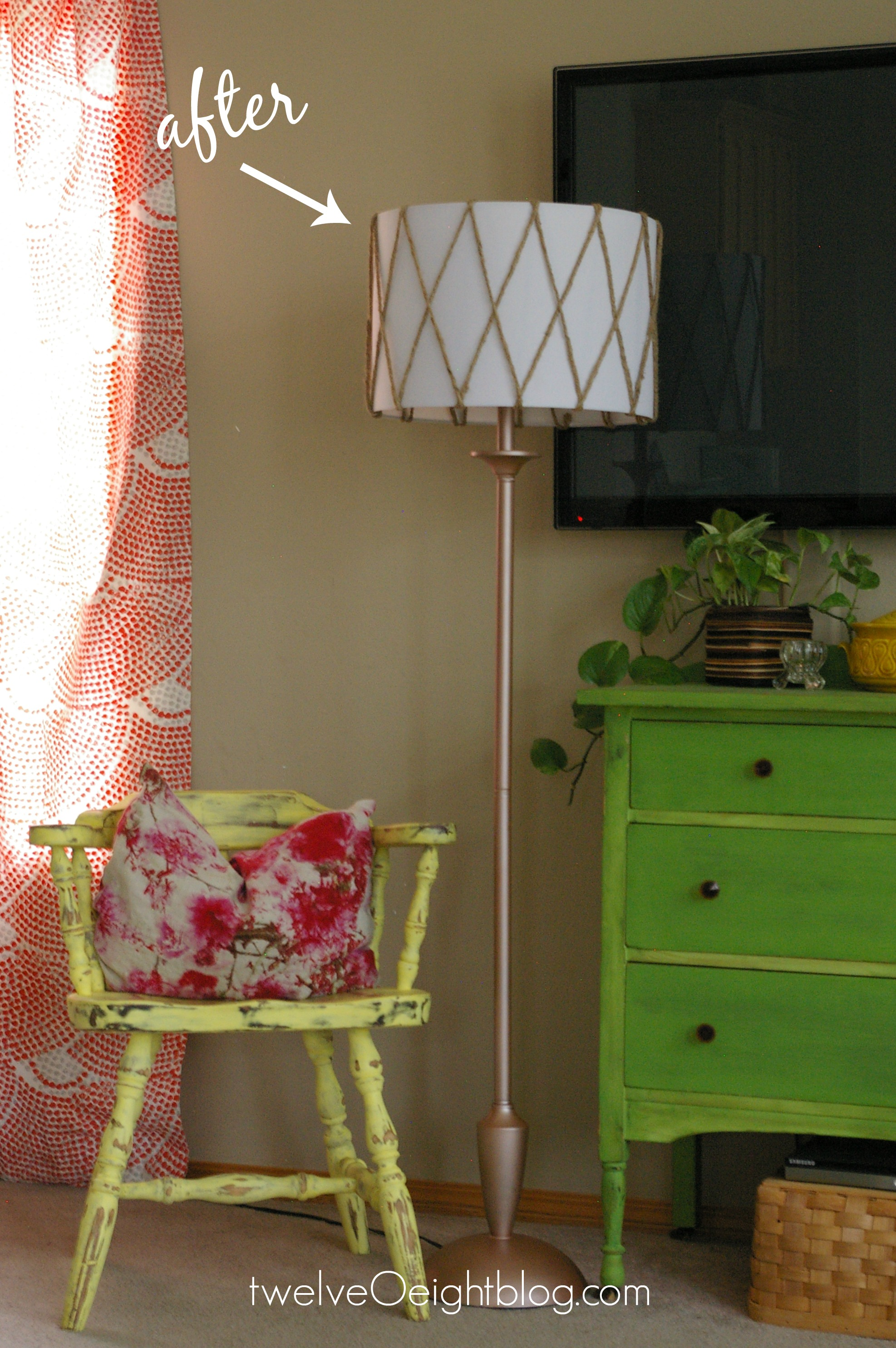 Diy Lamp Makeover Before After