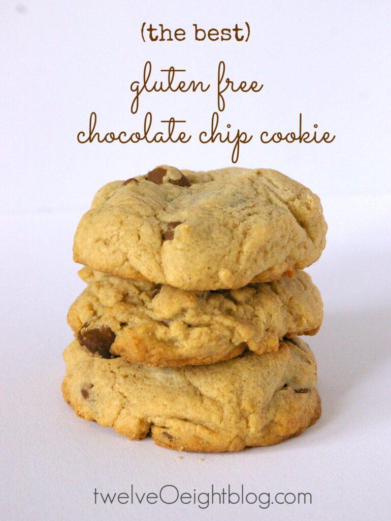 Gluten Free Chocolate Chip Cookie Recipe twelveOeightblog.com #glutenfree #chocolatechipcookie #cookierecipe #glutenfreerecipe #dessert #cookie #twelveOeightblog