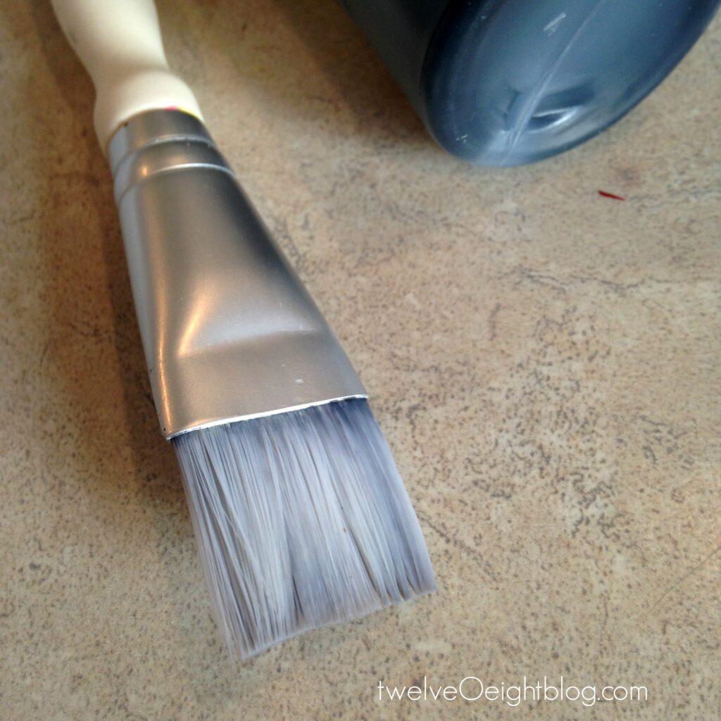 how to paint fabric twelveOeightblog.com #howtopaintfabric #diy #paintedfabric #pouf #footstool #ottoman #twelveOeightblog
