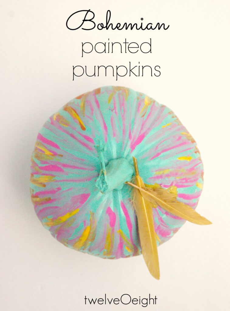 #pumpkin #boho #paintedpumpkin #twelveOeight #diy
