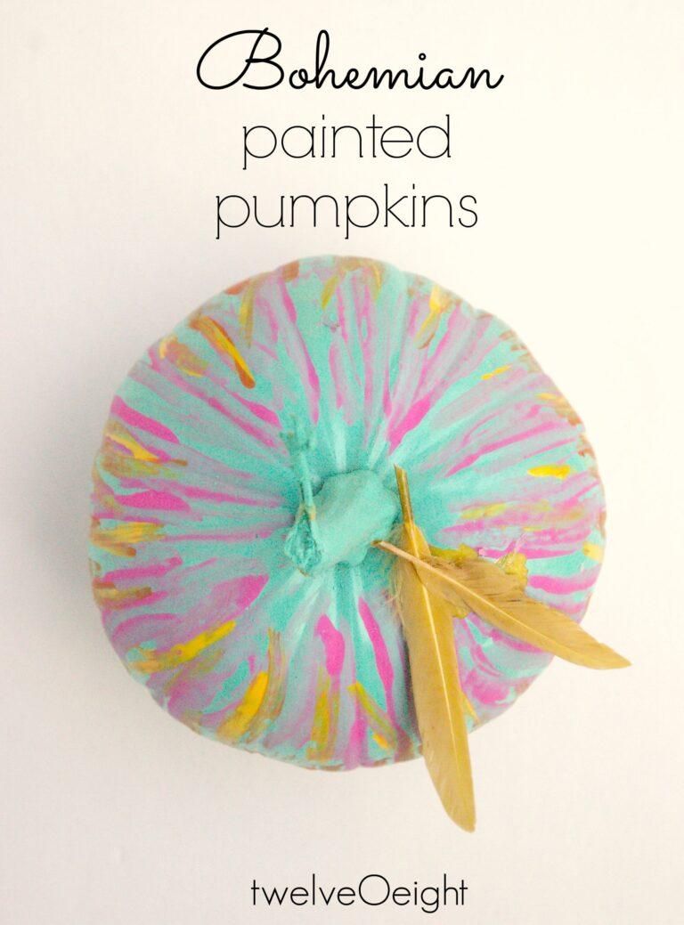 #pumpkin #boho #paintedpumpkin #twelveOeight #diy