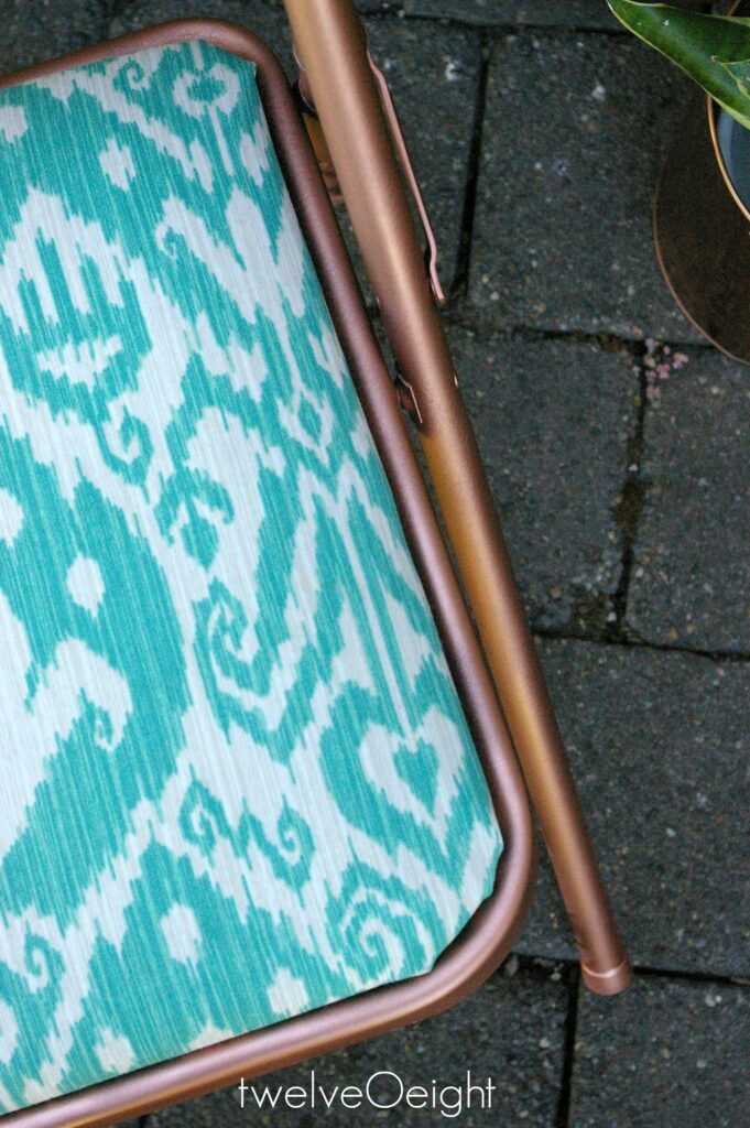 Ikat diy painted chair makeover #diy #ikat #twelveOeight #paintedchair