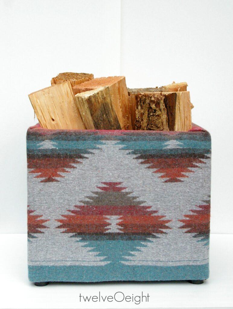 DIY Navajo Style Firewood Holder #twelveOeight #diy #Navajo #firewood #bohostyle