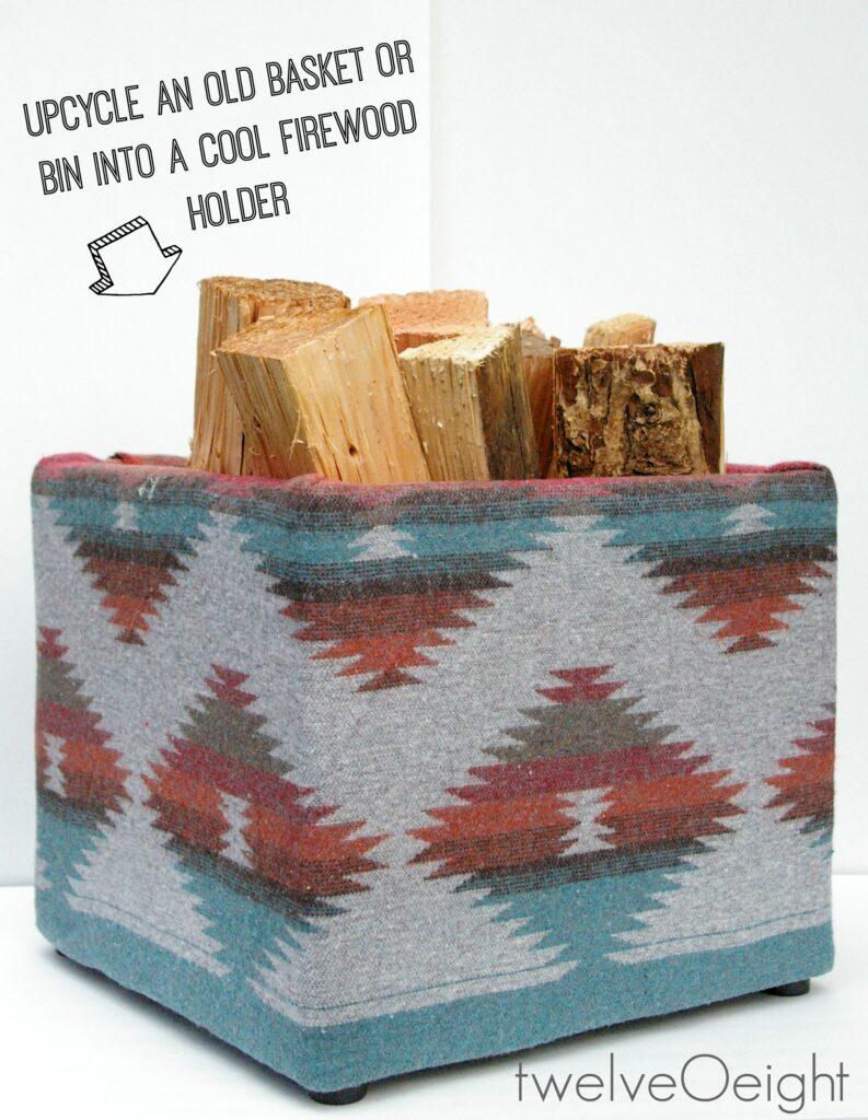 Navajo Style DIY Home Decor #twelveOeight #firewood #diy #bohostyle