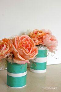 Spring decorating #flowers #diy #knockoff #spring #wedding