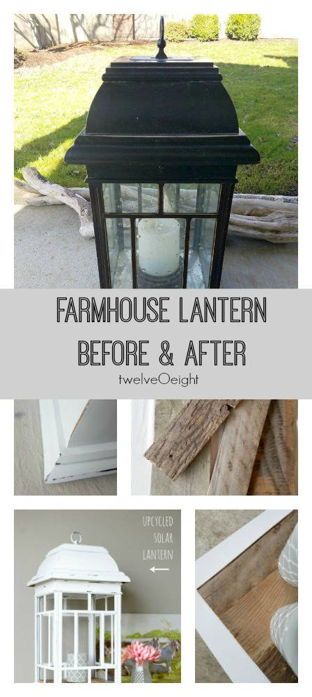 Farmhouse lantern upcycle #farmhouse #lantern #upcycle #diy #twelveOeight