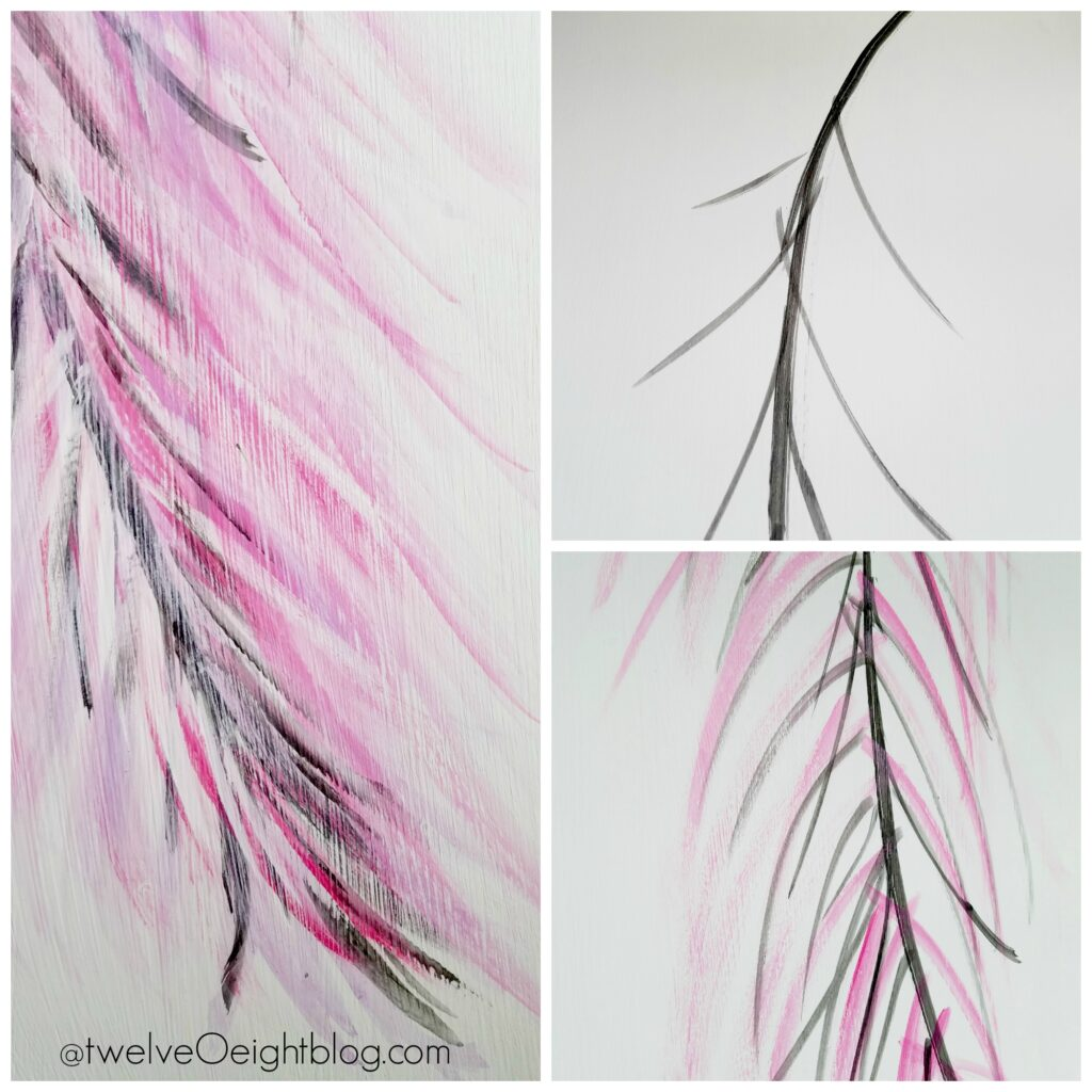 learn to paint feather