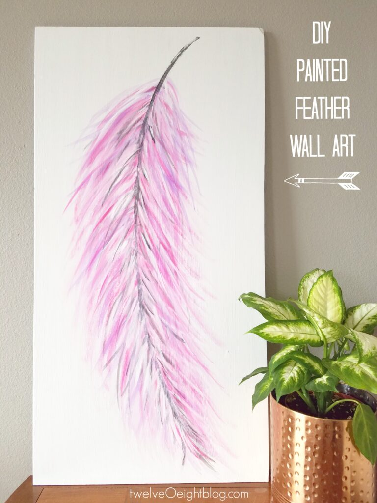 How to paint watercolor feathers