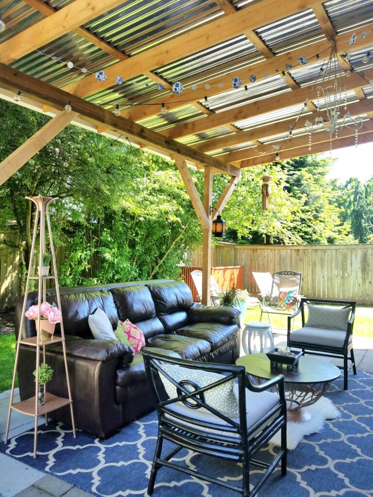 cheapskate decor outdoor living room patio diy twelveOeight