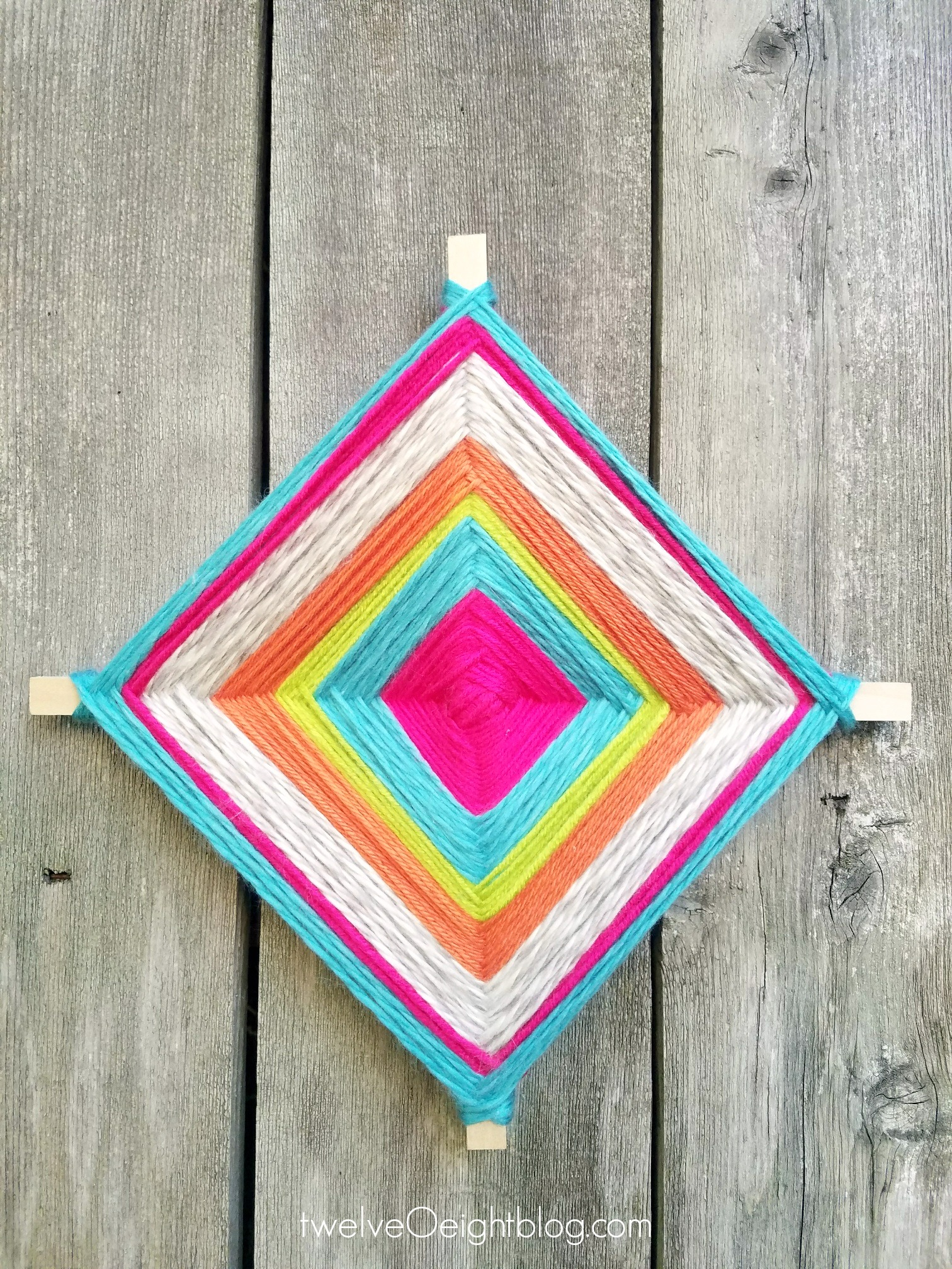 Diy God S Eye Craft Godseye Diy Yarncraft Weaving Twelveoeight 1
