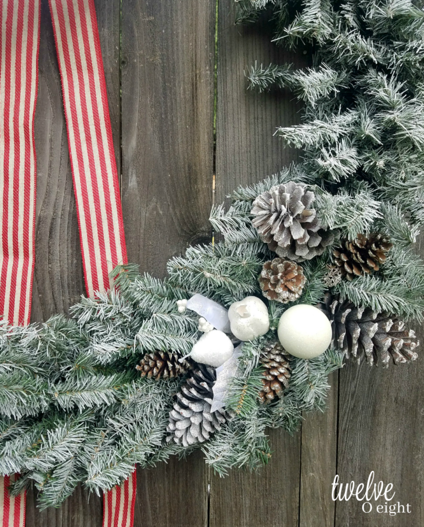Hobby Lobby Christmas Wreaths.How To Flock A Christmas Wreath Twelveoeight