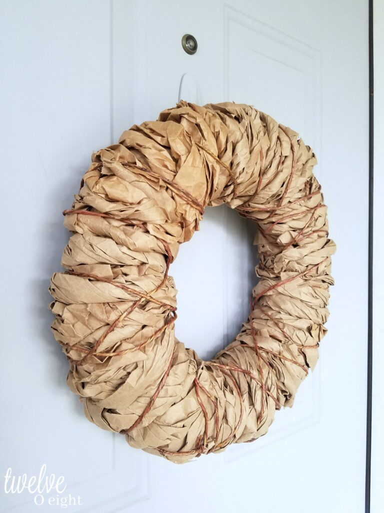 diy brown kraft paper Farmhouse wreath