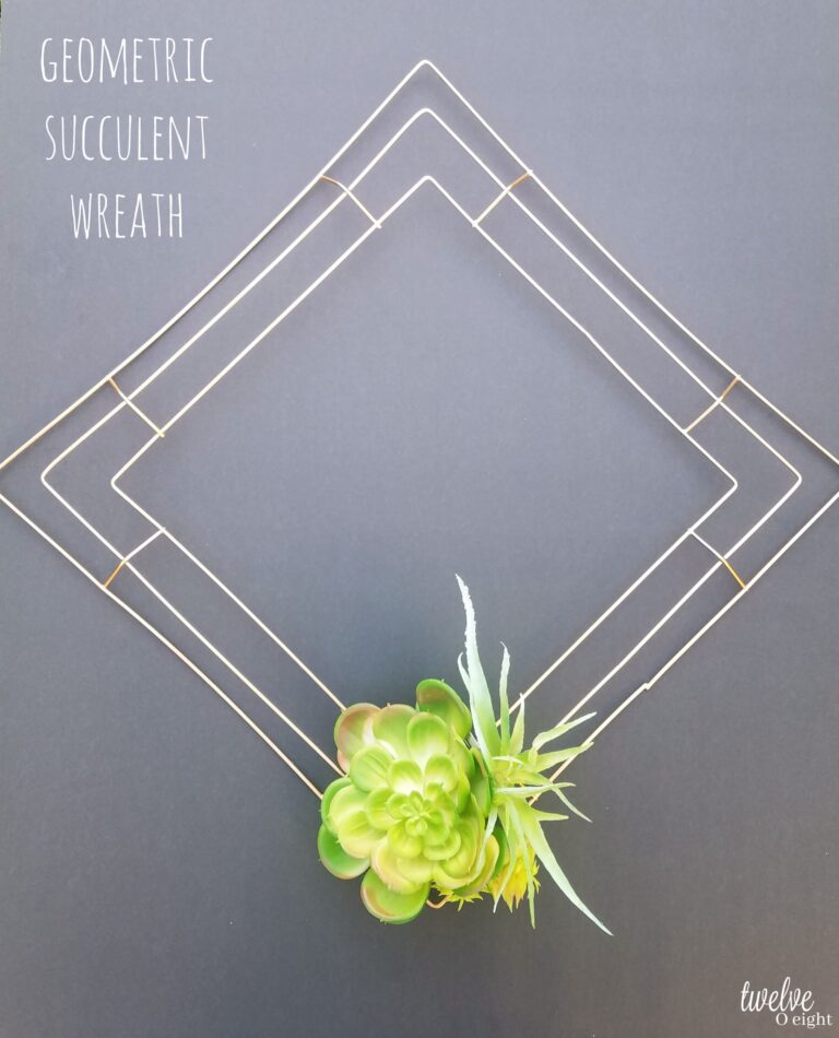modern wreath, diy wreath, succulent wreath