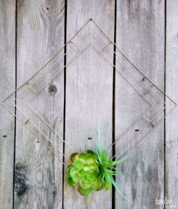 Modern succulent wreath, geometric wreath, square wreath, diy wreath