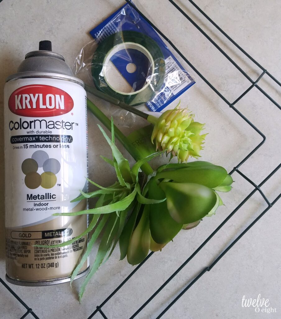 How to make a modern wreath, diy wreath, succulent wreath