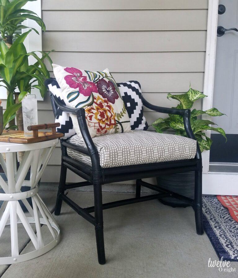 Boho style outdoor area