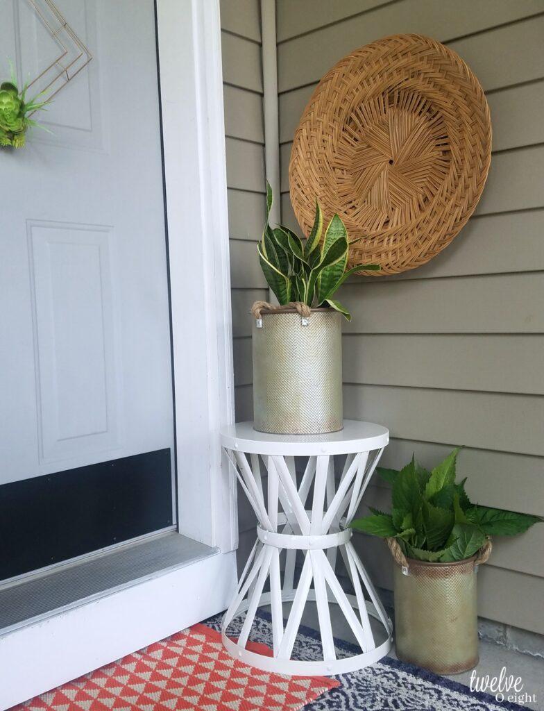 boho porch decor