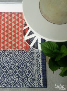 layered rugs for front porch #layerrugs