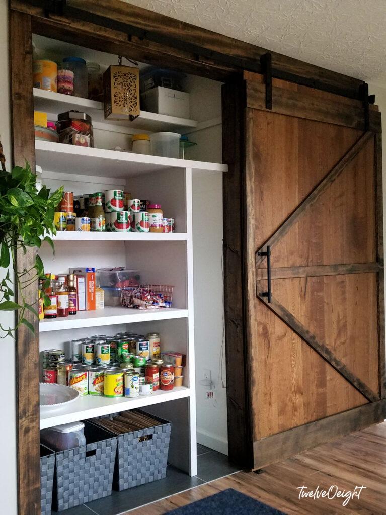 Sliding Barn Door A New Pantry