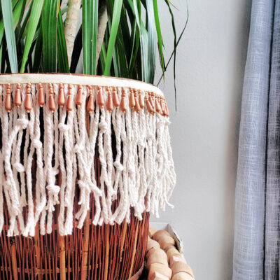 How to use a mop head to make macrame